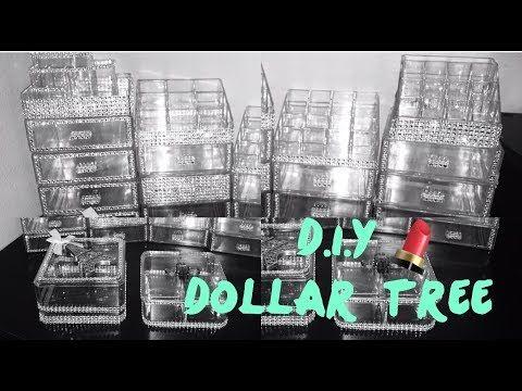 Diy Makeup Organizer Organizador De Maquillaje Dollar Tree