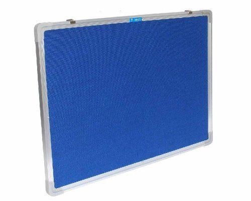 Filzboard mit Alu-Rahmen : 90cm x 60cm, BLAU, PWHQ-9060-B / Wandtafel / Pinnwand / Pinwand / Memotafel / Memoboard / Pinntafel / Pintafel / 90x60
