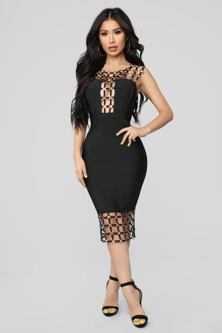 954868d485 Xena Bandage Dress - Black Spandex, Cipzár, Testhezálló Ruha, Stílus, Gyűrűk