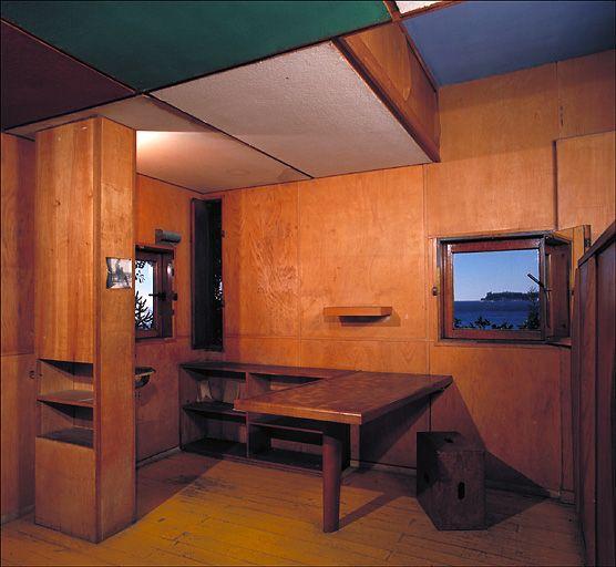 vue int rieur cabanon le corbusier archi ref concours pinterest cabanon le corbusier et. Black Bedroom Furniture Sets. Home Design Ideas