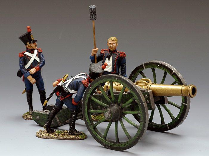 Cannone da 12 libbre e artiglieri della linea francesi