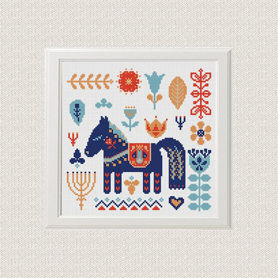 Horse baby nursery cross stitch pattern pdf baby Nursery decor ...