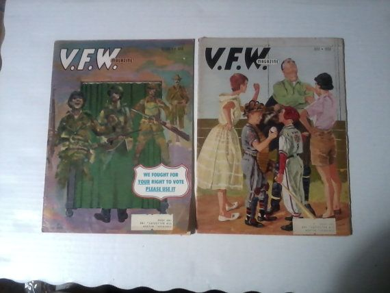 2 1960's VFW magazines great history great by vintagepostexchange