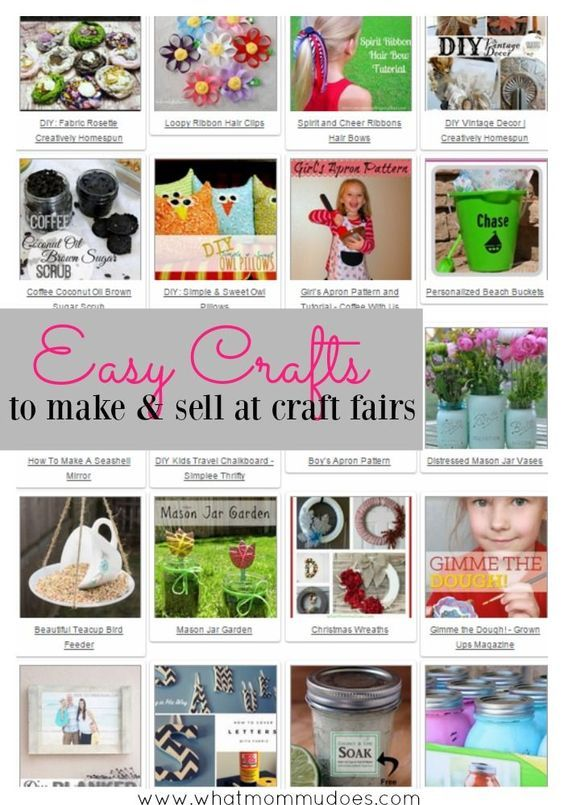Easy Crafts To Make And At Craft Fairs A List Of Super Cute Diy Projects You Can For Extra Money Great If Need Ideas Get
