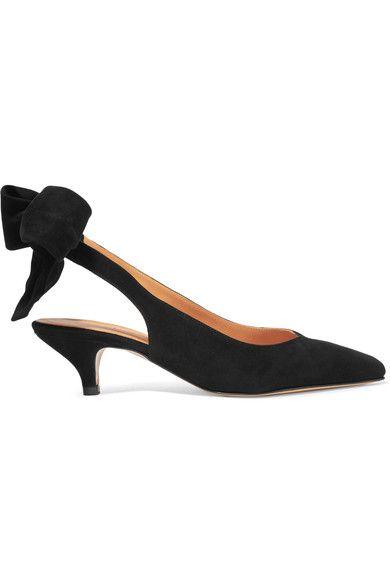 35065c81b1f  ganni  shoes  pumps Kitten Heel Slingbacks