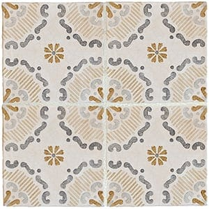 Milazzo Classic Glazed Terracotta Decorative 8x8 Classic Tile Milazzo Tile Trends