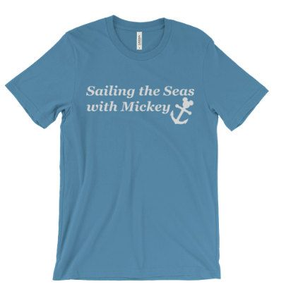 Going on a Disney Cruise? Our Sailing the Seas shirt is perfect for your vacation   Printed on Bella + Canvas unisex crewneck. Super soft and True to Size Printed with DTG printer Print can have a vintage look to it.
