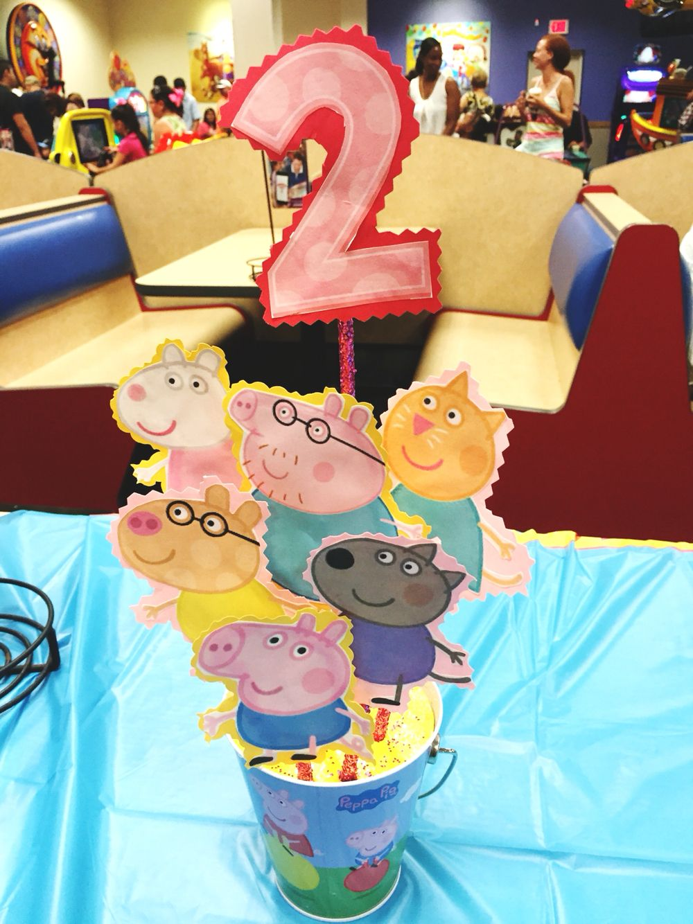 Peppa Pig Party Diy Centerpiece Decorations Birthday Ideas Pig