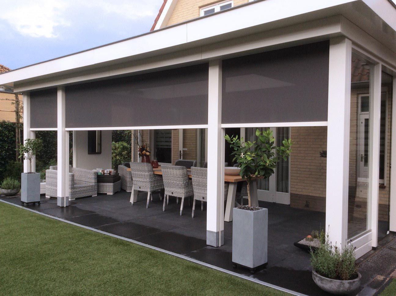 In Oosterhout uitgevoerd met screen » Klassieke Veranda | Balkon decoratie,  Buiten pergola, Veranda ontwerp