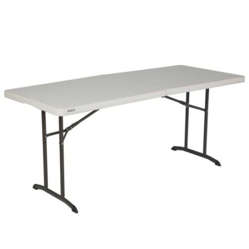 Lifetime Fold In Half Folding Tables 6 Foot 80264 Almond Color 12