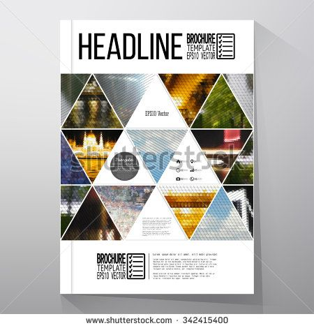 Business Templates For Brochure Flyer Or Booklet Abstract