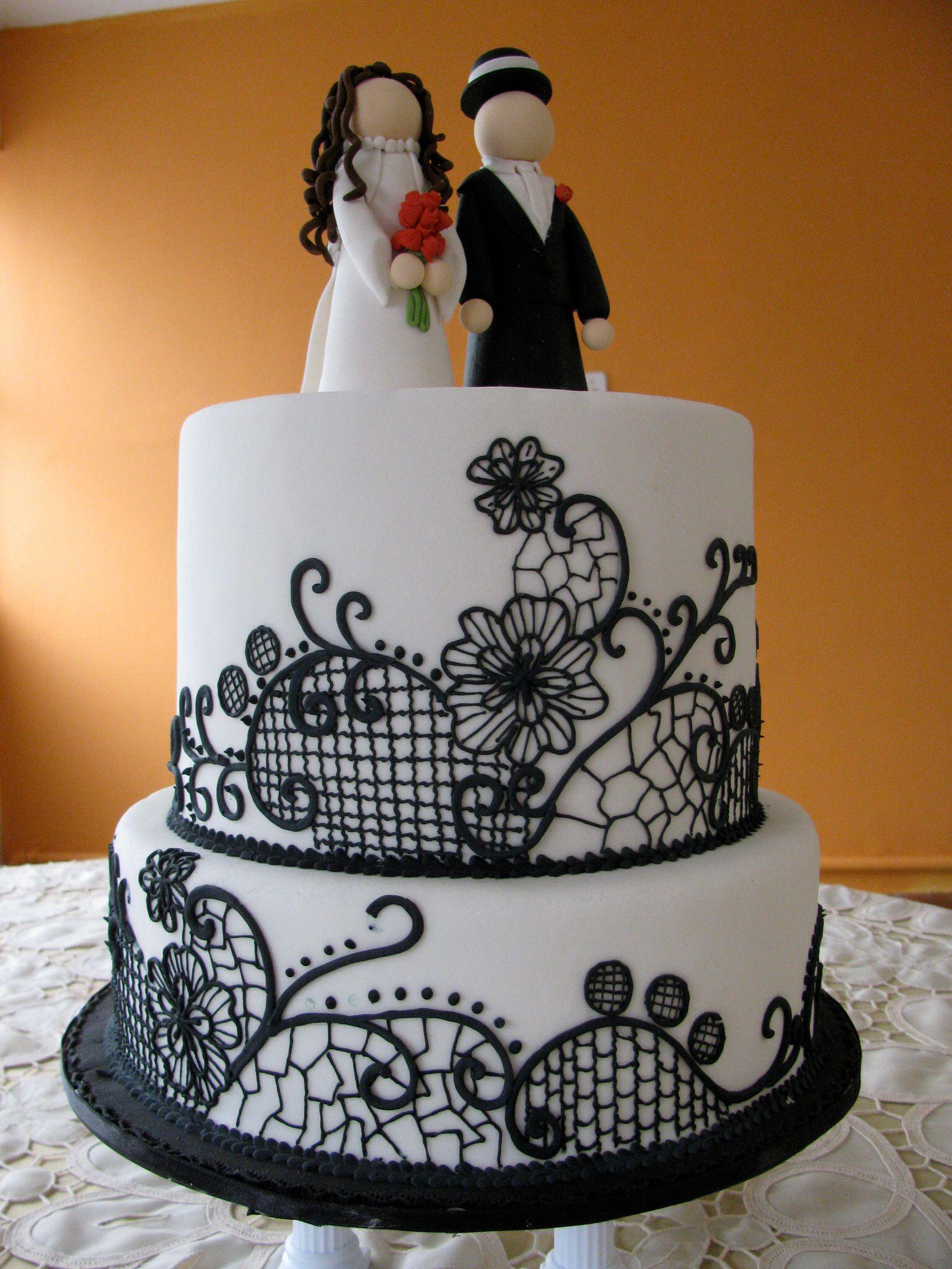 Black white wedding cake wedding cakes cake white