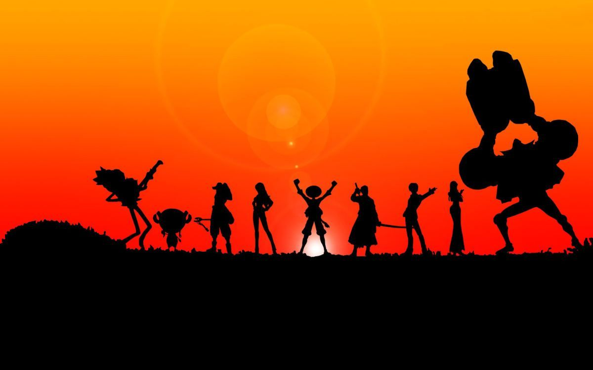 411111642 Black Silhouette Character One Piece Family Anime Wallpaper Images ...