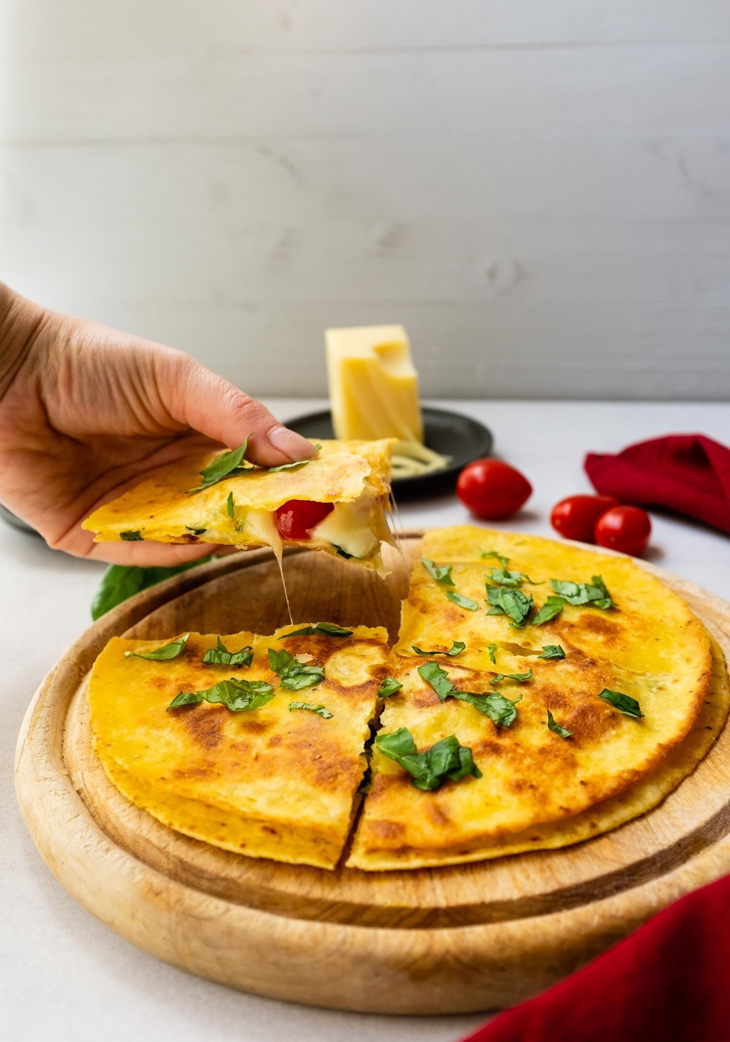 schnelle pizza margherita – vegetarische