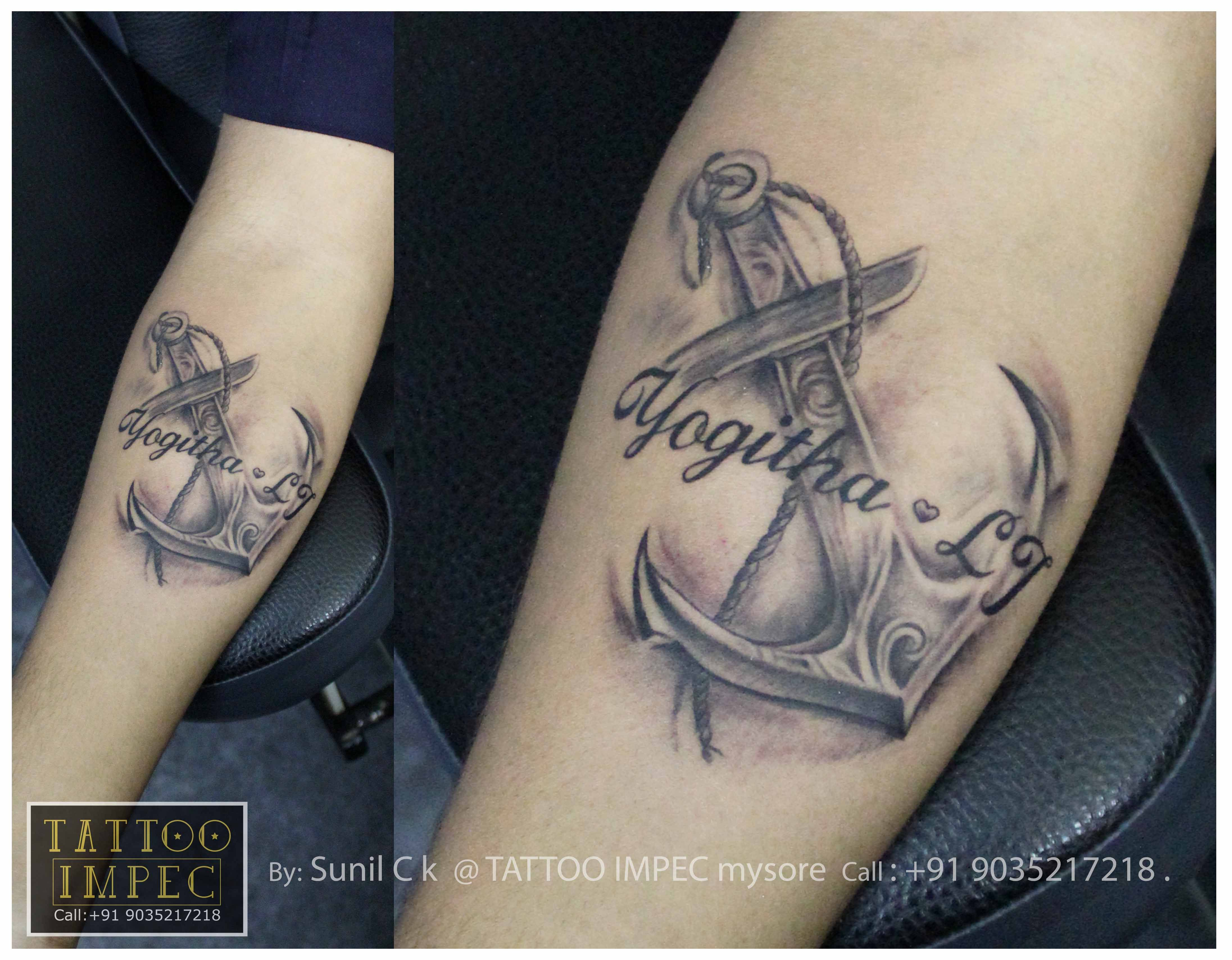 Anchor Tattoo 3 Name 3 Get Inked From Experienced Tattoo