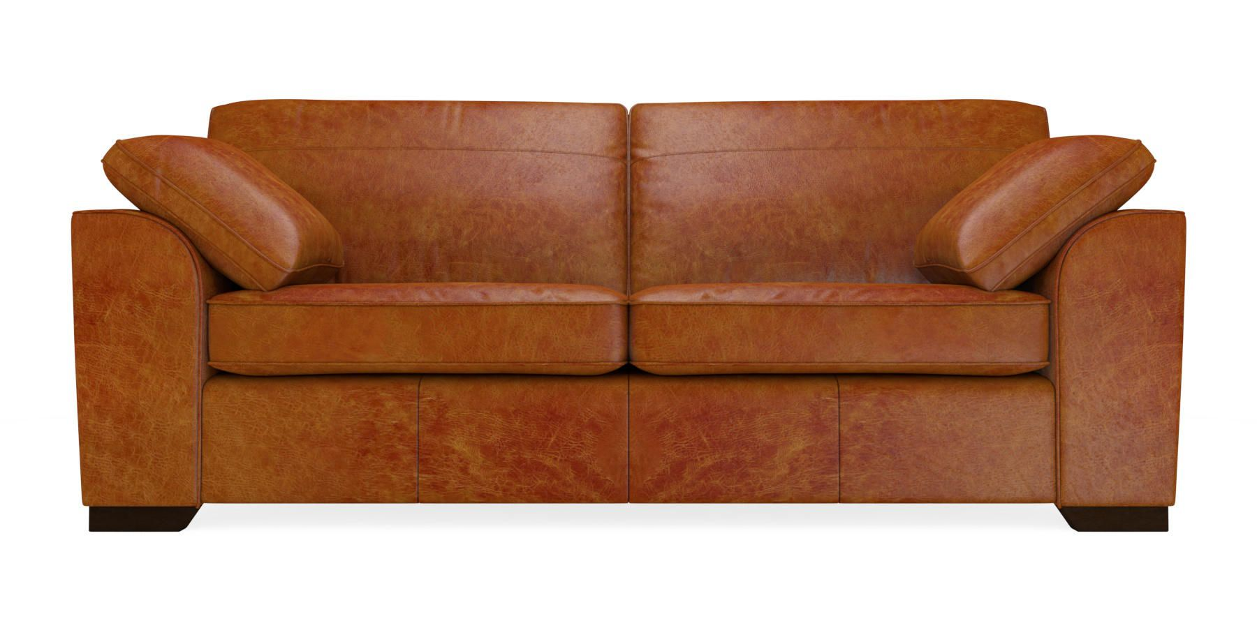 Astonishing Buy Stamford Leather Large Sofa 3 Seats Cuba Dark Tan Dark Pdpeps Interior Chair Design Pdpepsorg