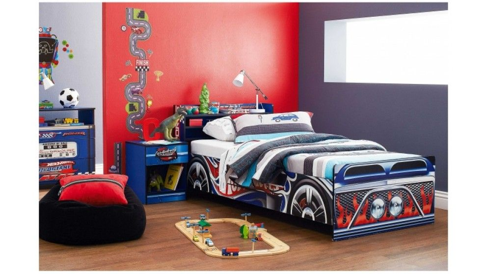Hot Wheels Single Bed With Bookcase | Harvey Norman