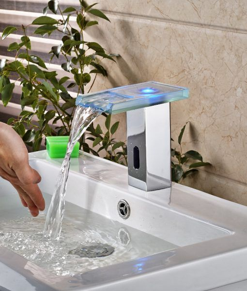 Bonita Touchless Led Bathroom Sink Faucet With Motion Sensor