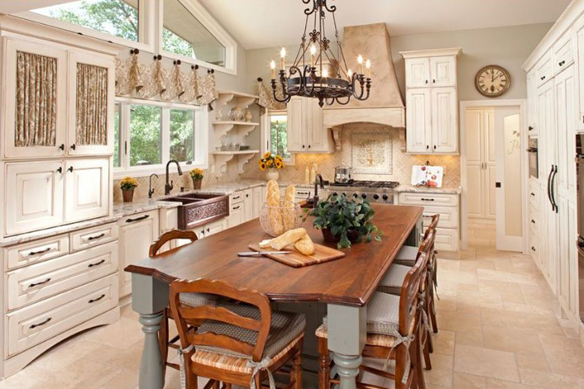 Cottage Kitchen Design Glamorous Country Styled Cottage Kitchen Design With Offwhite Kitchen Review