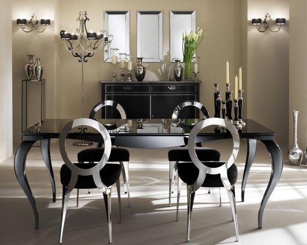 Sedie Barocche ~ Arredamento barocco moderno in un soggiorno dai toni scuri