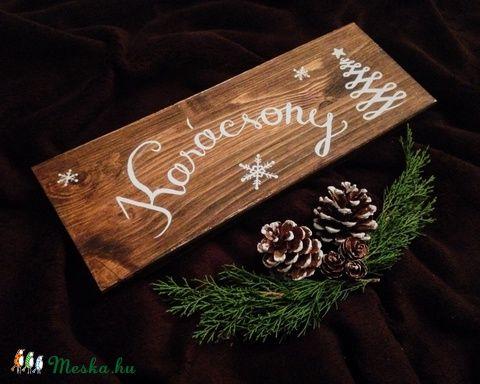 Karácsonyi tábla (Bibodekoracio) - Meska.hu  05ce09c470