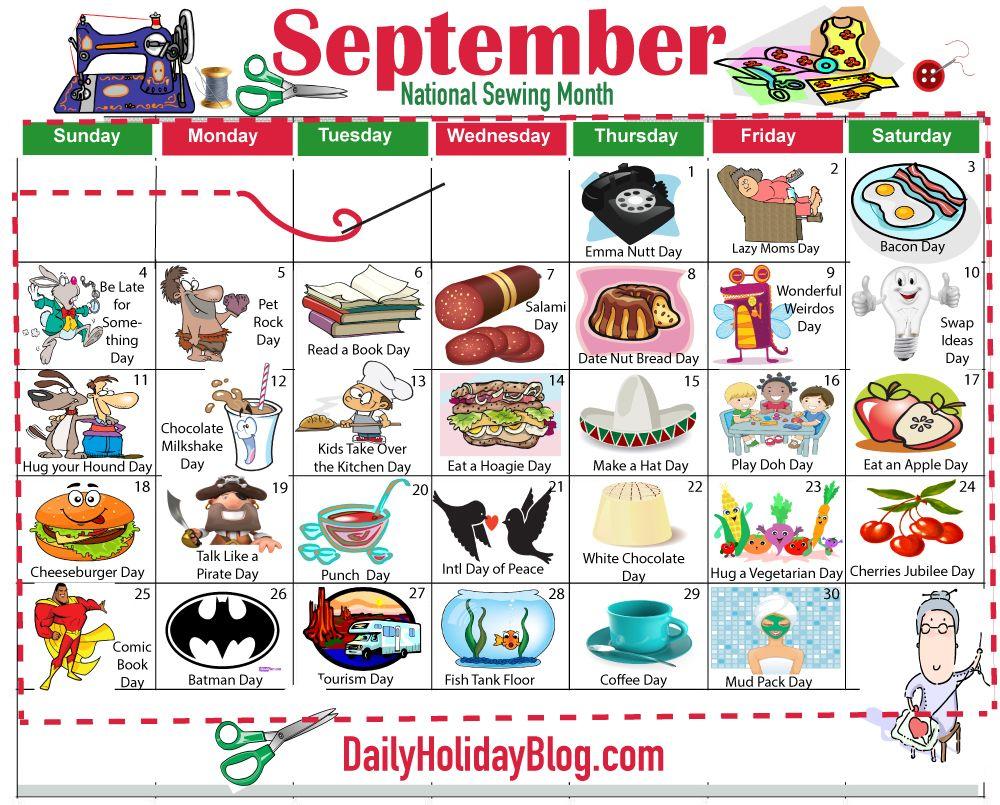 september holiday calendar Holiday calendar, National