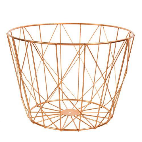 corbeille en m tal graphique copper maisons du monde. Black Bedroom Furniture Sets. Home Design Ideas