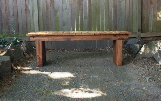 Build your very own modern bench with this tutorial from Dunn DIY.