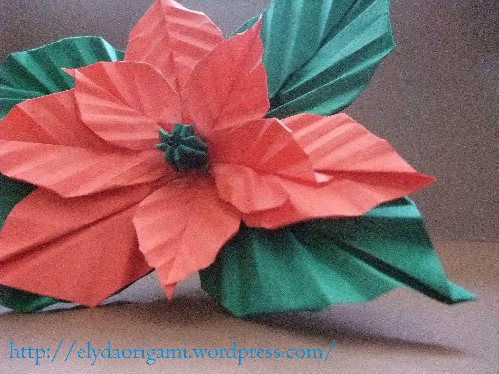 Origami Poinsettia Flower Origami Graciela Pinterest