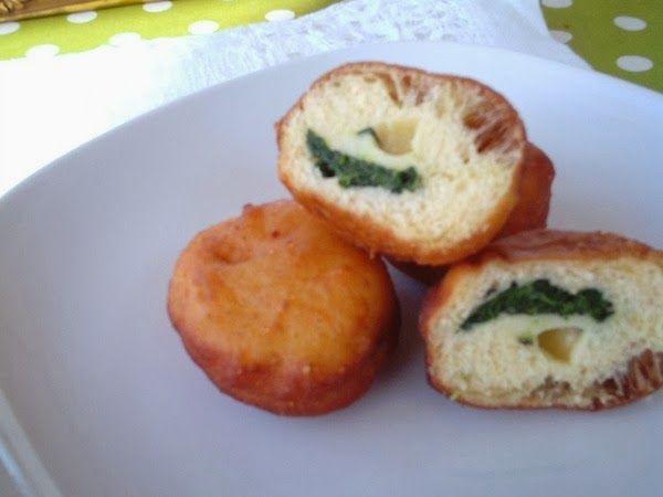 cucina con dede: Krapfen fontina e spinaci