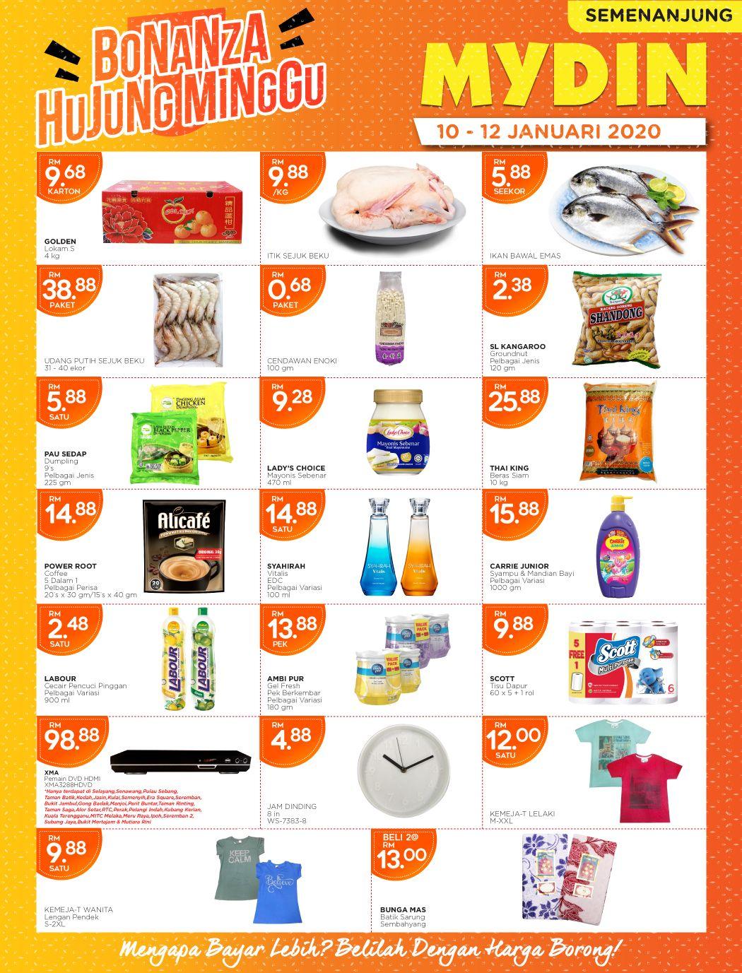 Mydin Weekend Promotion 10 Jan 2020 12 Jan 2020 In 2020 Promotion 10 Things Sale Banner
