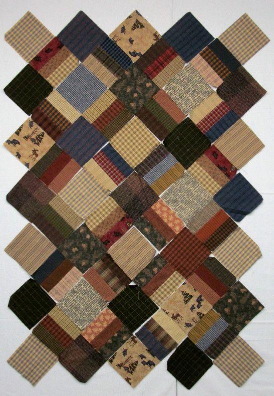Quilt Patterns From Men S Shirts : Exuberant Color: simple quilt pattern - in fabric! Men s Shirts Quilts Pinterest Fabrics ...