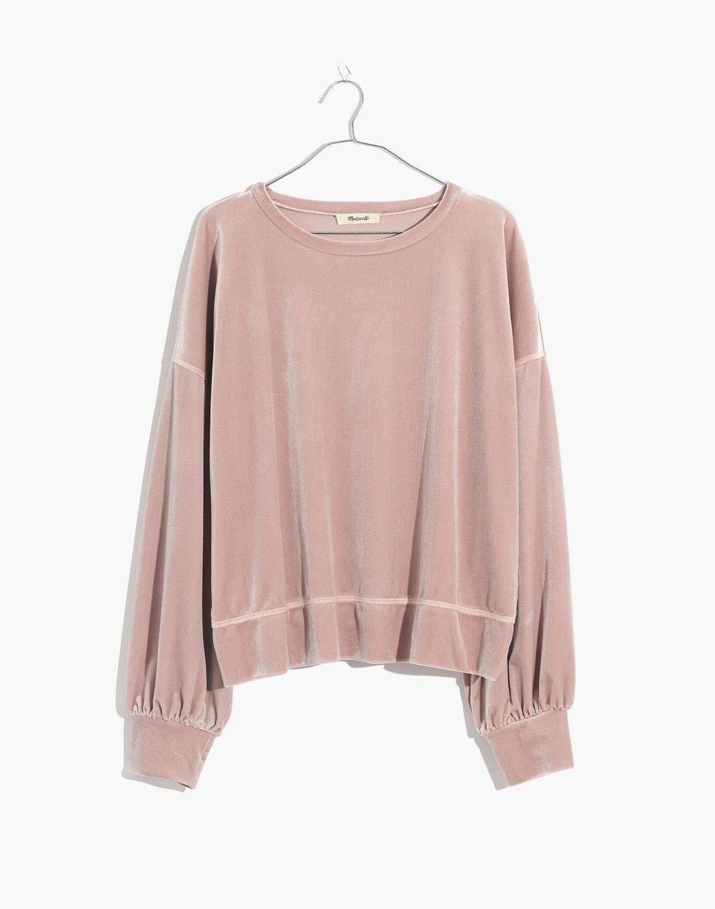 Velvet Balloon Sleeve Sweatshirt in 2020 | Fashion