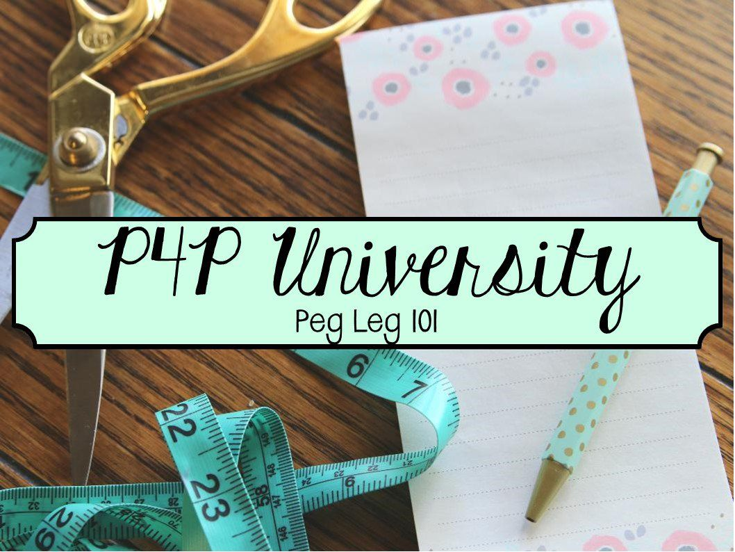 P4p University Peg Leg 101 Patterns For Pirates Sewing