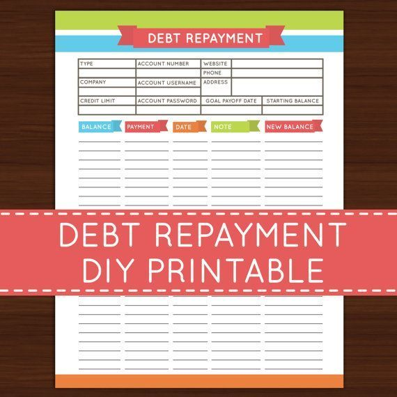this listing is for one debt repayment 6 5 x 8 5 editable digital