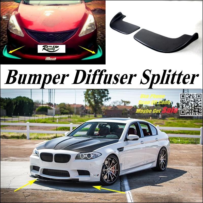 98.00$  Buy here  - Car Splitter Diffuser Bumper Canard Lip For BMW 5 M5 E28 E34 E39 E60 E61 Tuning Body Kit  / Deflector Car Fin Chin Reduce Body