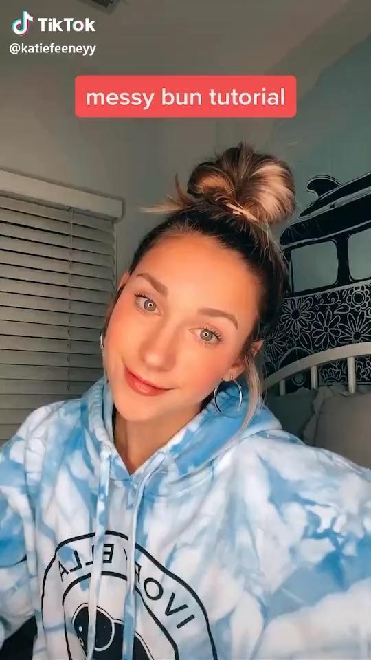 Messy Bun Tutorial Video Hair Styles Hair Braid Videos Bun Hairstyles For Long Hair
