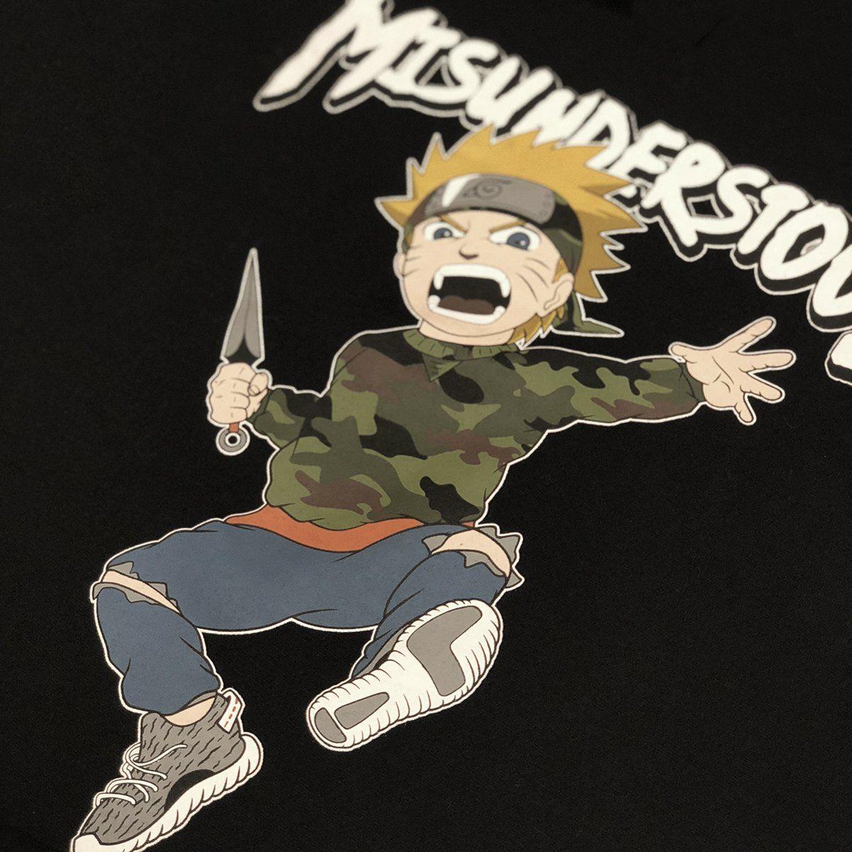 Misunderstood Naruto Black Tee *Restocked*