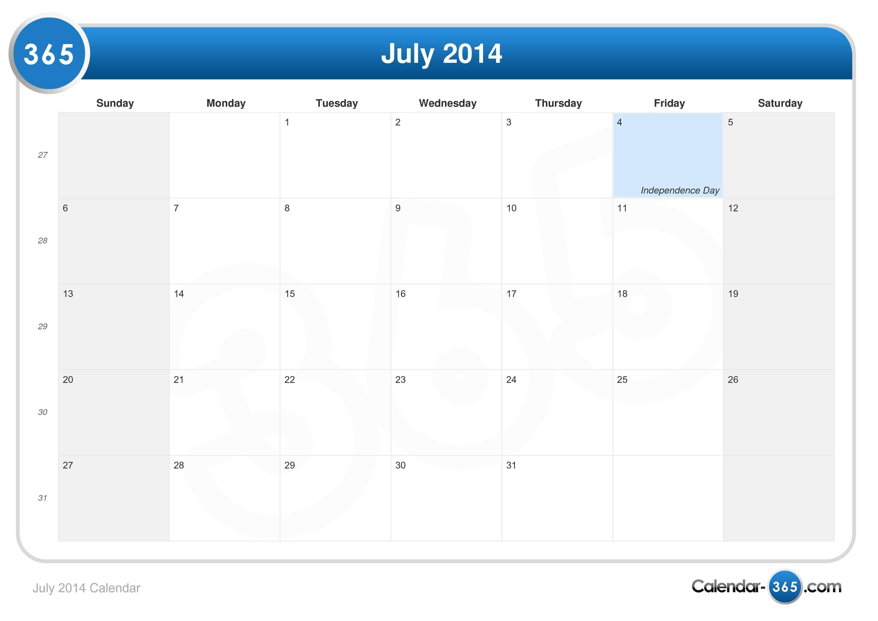 July 2014 Calendar Calendar Printables December Calendar 2019 Calendar