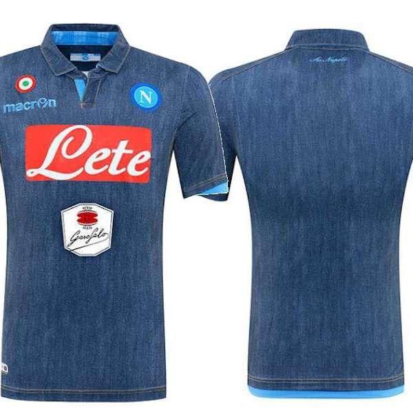 69954ef586262 Vestidos para la ocasión  Nápoli presenta camiseta de jean ...