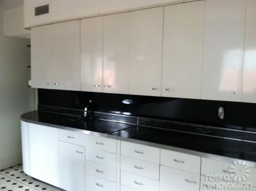 Robert And Caroline S Mid Century Home With Dreamy St Charles Kitchen Cabinets Metal Kitchen Cabinets Metal Kitchen Kitchen Cabinets