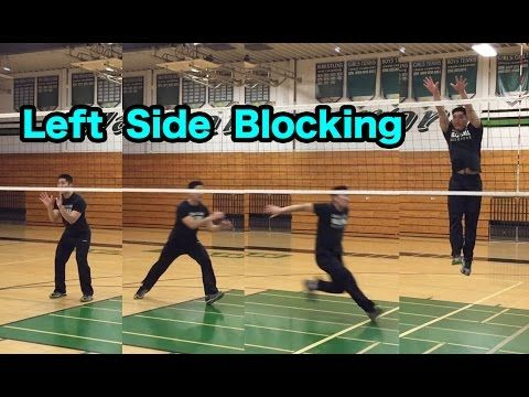Outside Hitter Blocking Technique Part 1 2 How To Block A Volleyball Tutorial Youtube Coaching Volleyball Volleyball Workouts Volleyball