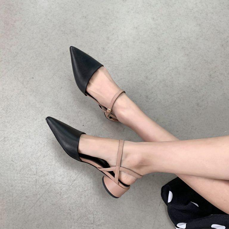 Pointed Toe Block Heels Pumps