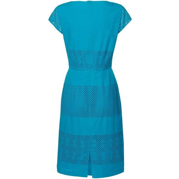 L.K. Bennett Britani Broderie Anglaise Dress ($295) ❤ liked on Polyvore
