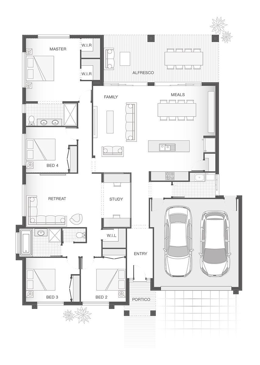 the iluka home design floor plan 254 6m2 4 bedrooms 2 the iluka home design floor plan 254 6m2 4 bedrooms 2 bathrooms