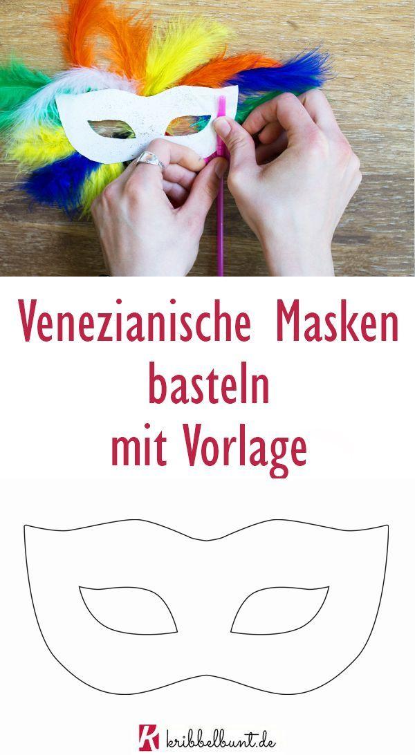 Photo of Venezianische Maske basteln mit Kindern mit Vorlage ganz einfach zum Fasching – …