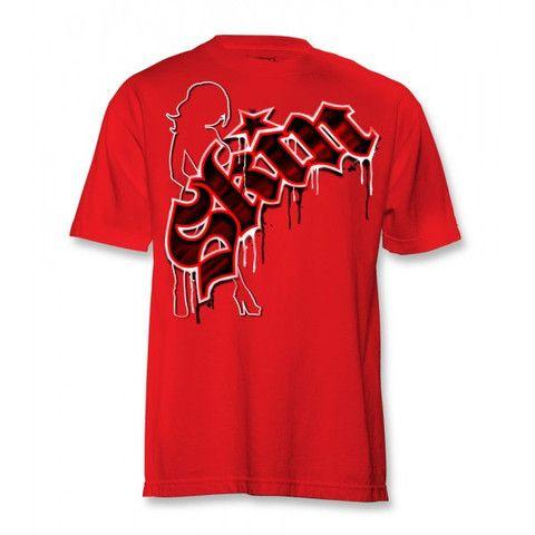 "Skin Industries Mens ""SW2"" Red T Shirt - Vulcinity"