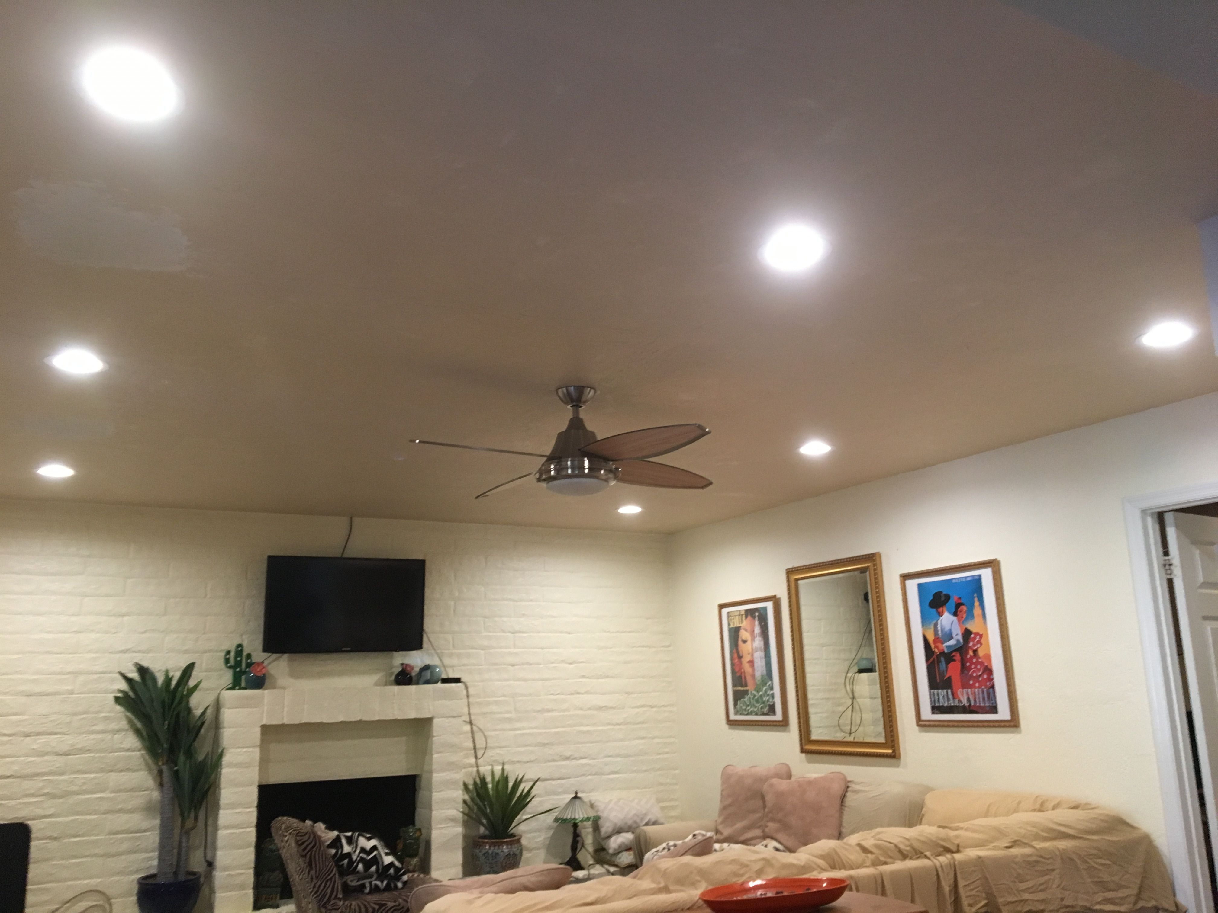 Installed 7 New Led Recessed Lights With Flat Roof New Switch And Wifi Dimmer Wit Recessed Lighting Living Room Installing Recessed Lighting Recessed Lighting