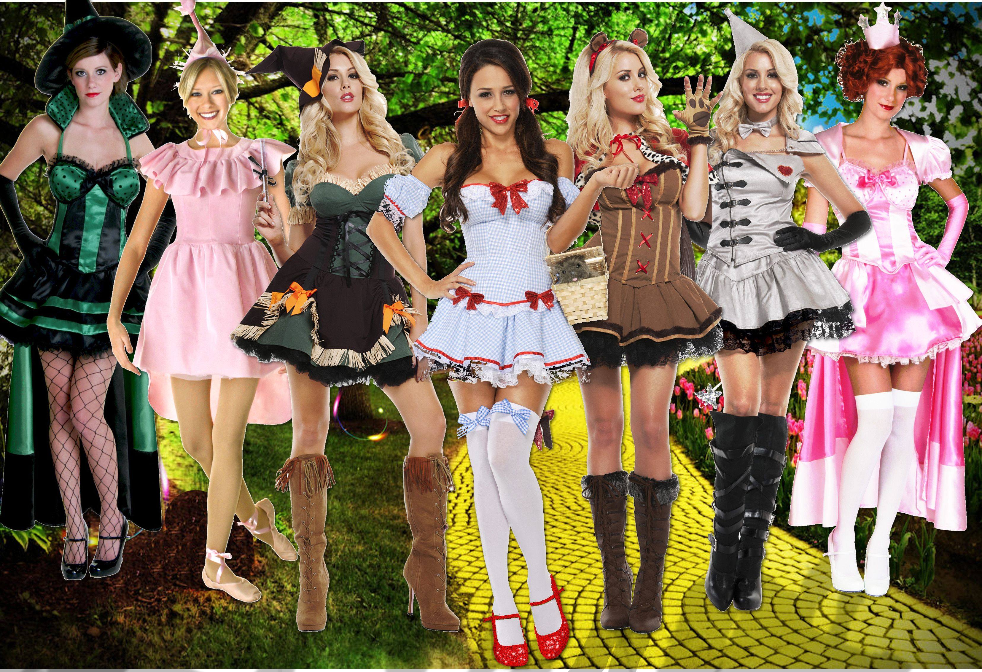 Sexy Wizard of Oz Group Costume Ideas #Halloween  sc 1 st  Pinterest & Sexy Wizard of Oz Group Costume Ideas #Halloween | ghoul to a goblin ...