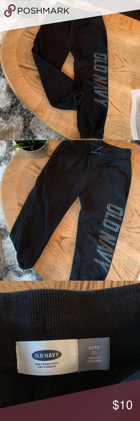 OLD NAVY boys sweat pants🔵 Pants, Black sweatpants